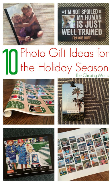 10 Photo Gifts for the Holiday Season || The Chirping Moms