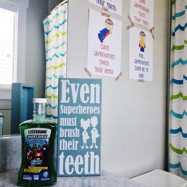 Superhero Bathroom Wall Art (Free Printable) || The Chirping Moms
