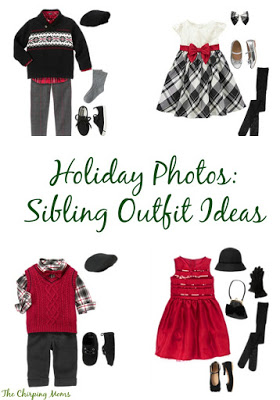 Holiday Photos: Sibling Outfit Ideas || The Chirping Moms