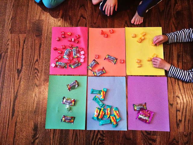 color sort with kids