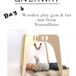 The 12 Days of Toys: Day 4, Wooden Play Gym & Fur Mat