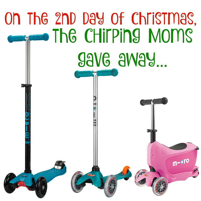 Holiday Gift Idea:  Micro Kickboard Scooters || 12 Days of Toys, The Chirping Moms