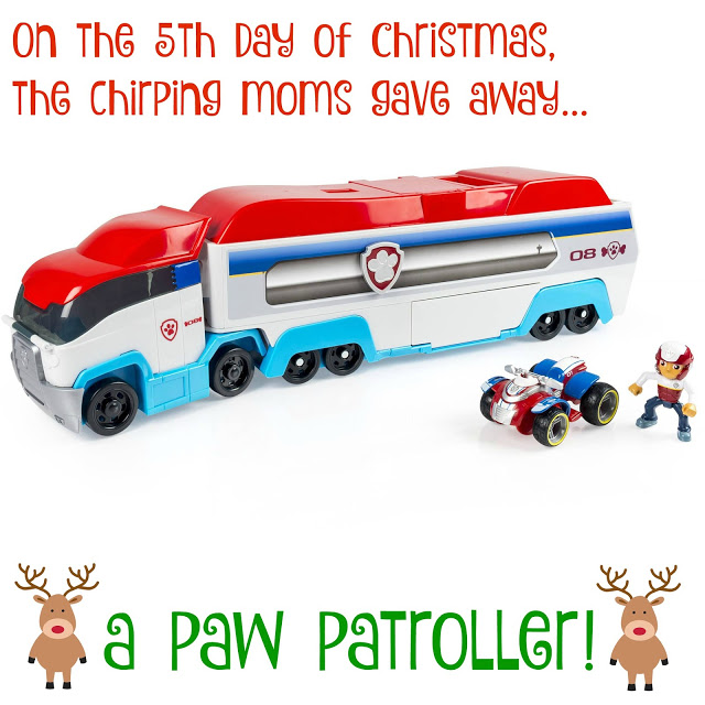 The 12 Days of Toys, Paw Patroller (Giveaway) || The Chirping Moms