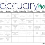 February Meal Plan for Families (Free Printable)