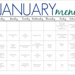 31 Days of Dinners:  A Meal Plan for January (Free Printable)