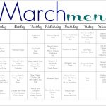 March Meal Plan for Families (Free Printable)