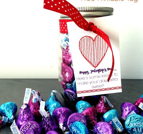 The Valentine Kiss Jar Gift Idea (Free Printable)