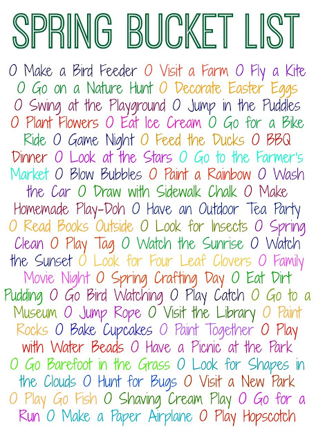 50 Things to Do This Spring (Free Printable) || The Chirping Moms
