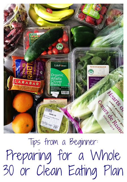 Preparing for Clean Eating and/or the Whole 30.  Super easy tips & strategies to help beginners.  || The Chirping Moms