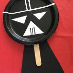 Paper Plate Darth Vader Puppet