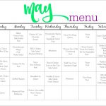 May Meal Plan for Families (& Free Printable)