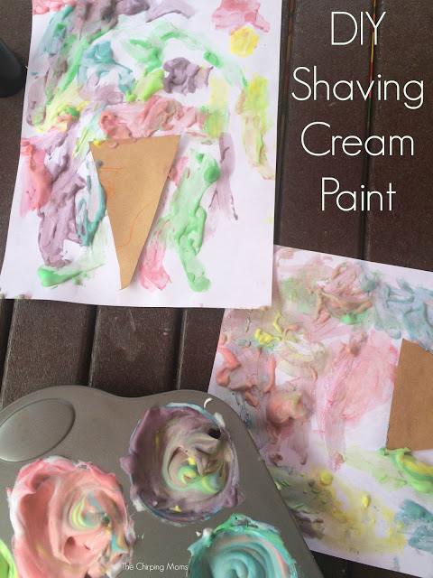 DIY Shaving Cream Paint || Outdoor Summer Fun for Kids. The Chirping Moms