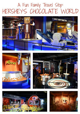A Fun Summer Adventure for Families: Hershey's Chocolate World.  Hershey, PA.  Family Travel.