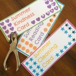 Summer Punch Cards for Kids {Free Printables!}
