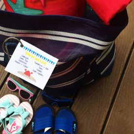 Printable Beach Bag Checklist Tag