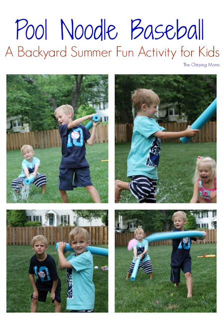 Pool Noodle Baseball || Outdoor Summer Fun for Kids. The Chirping Moms