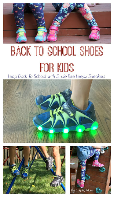 Back to School Shoes for Kids || The Chirping Moms. Stride Rite Leepz Sneakers. Back to School Shoes for Kids.