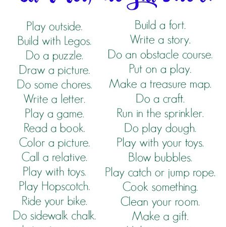 Summer Boredom Busters (Free Printable)