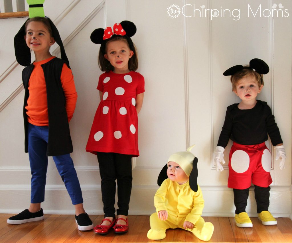 diy-mickey-minnie-pluto-goofy-costumes  sc 1 st  The Chirping Moms : disney goofy costume for kids  - Germanpascual.Com