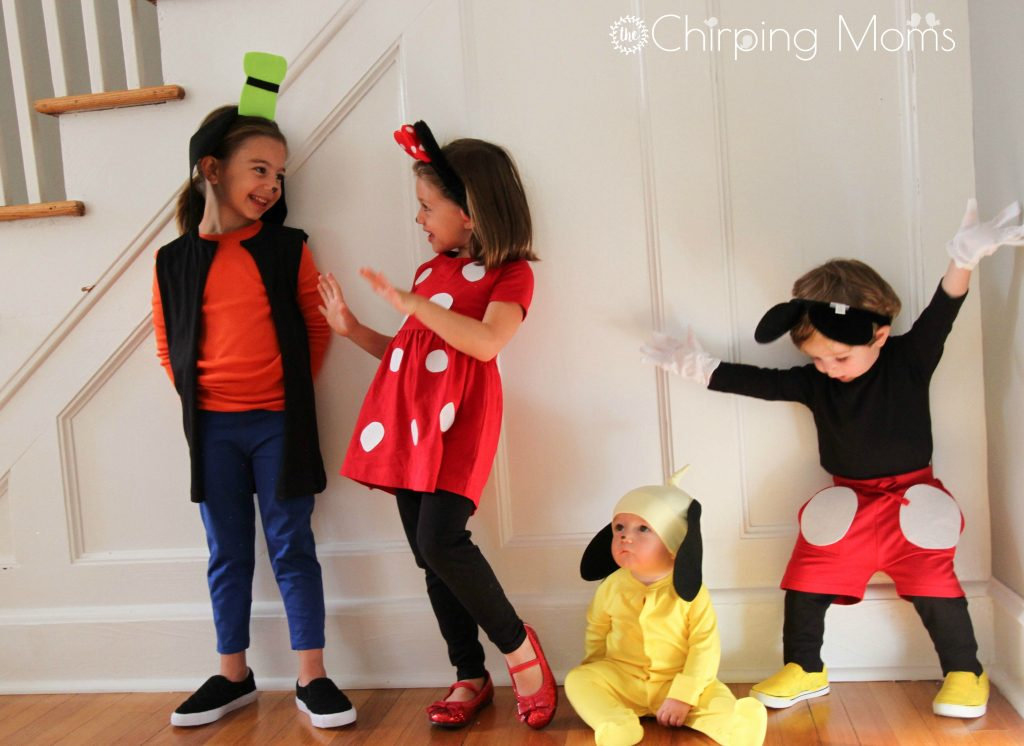 diy-minnie-mickey-pluto-goofy-costumes-halloween  sc 1 st  The Chirping Moms & Easy DIY Mickey u0026 Pals Costumes - The Chirping Moms