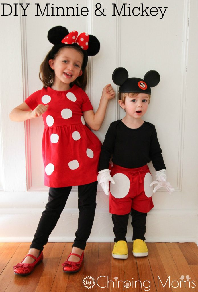 b7a80c5ab516 Easy DIY Mickey & Pals Costumes - The Chirping Moms