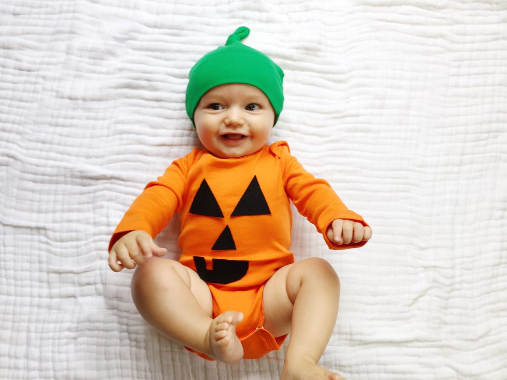 5 easy diy halloween costumes for baby the chirping moms diy pumpkin costume solutioingenieria Gallery