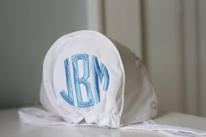monogrammed bonnet The Beaufort Bonnet Company