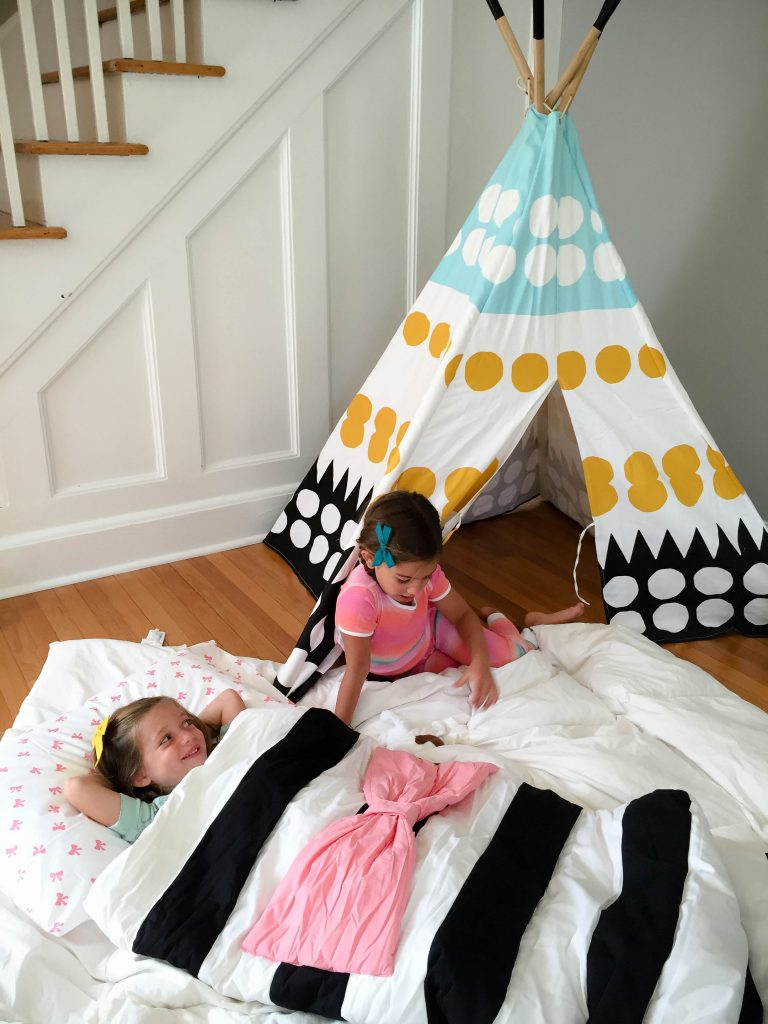 faux slumber party for kids
