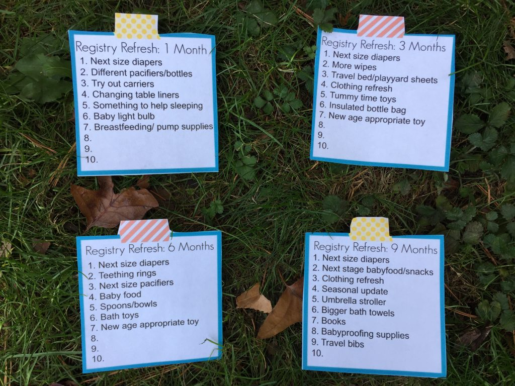 Monthly Printable Baby Checklists