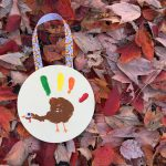 DIY Hanging Turkey Handprint