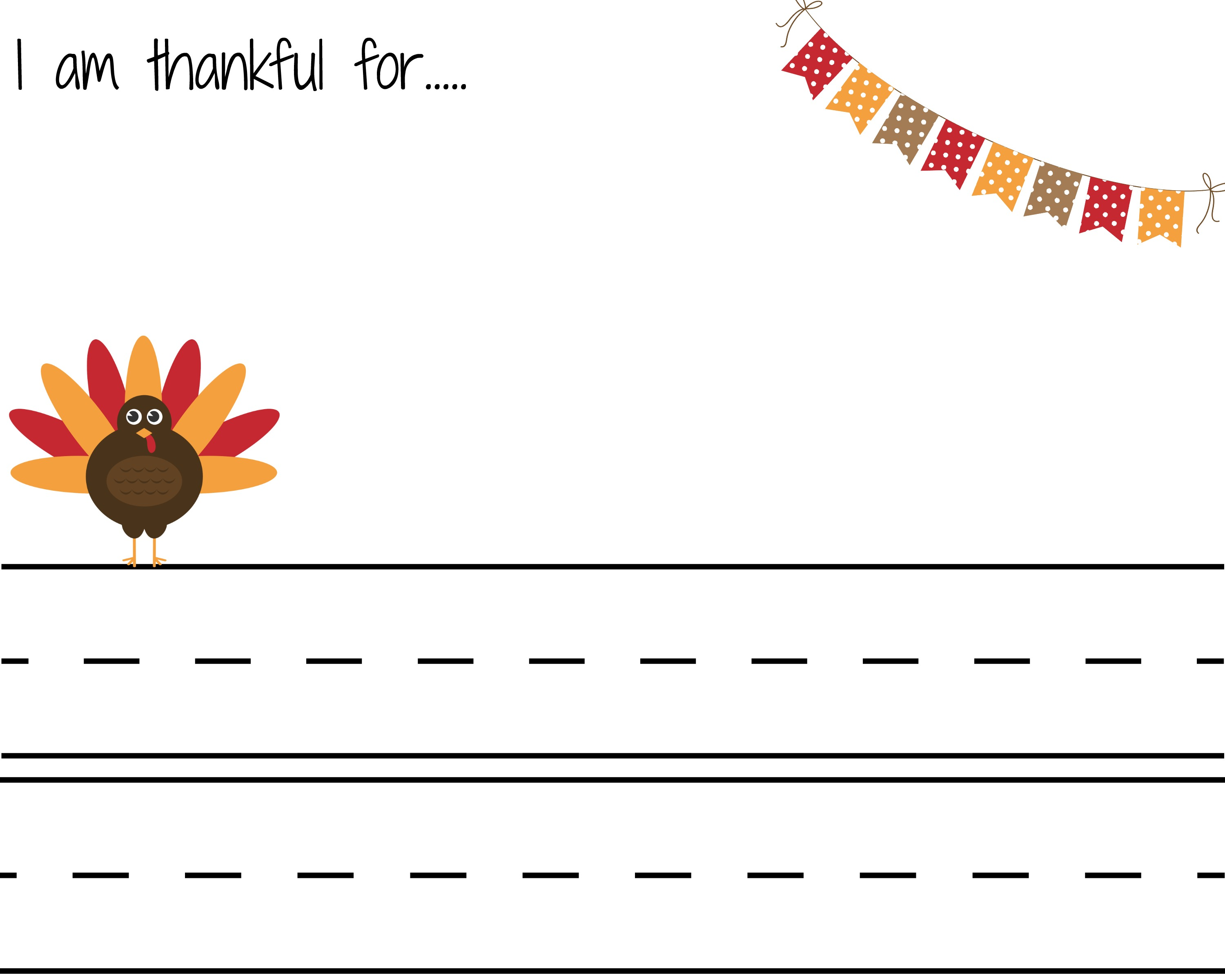 I Am Thankful Letter Color