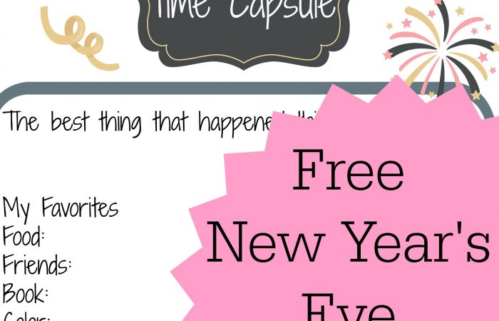 New Year's Eve Activity for Kids: Free Printable 2016 Time Capsule