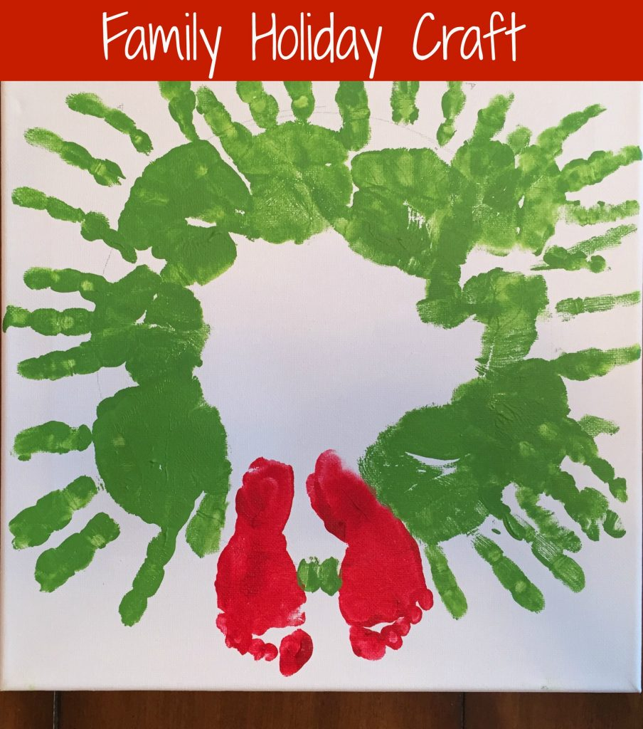 Christmas Handprint footprint craft for kids baby footprint craft