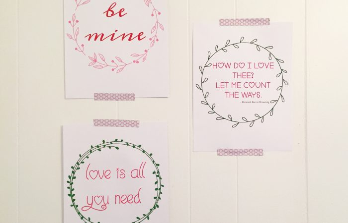 3 Free Printable Valentine's Day Signs