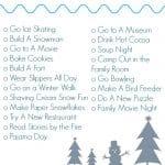 Winter Bucket List (Free Printable)