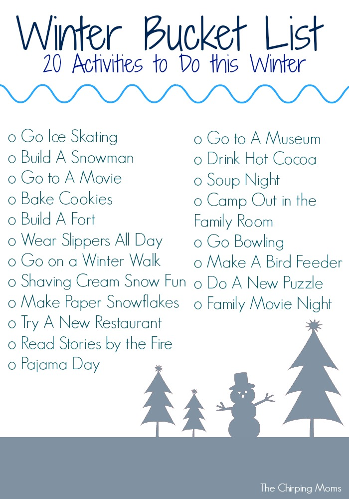 Winter Bucket List Free Printable The Chirping Moms