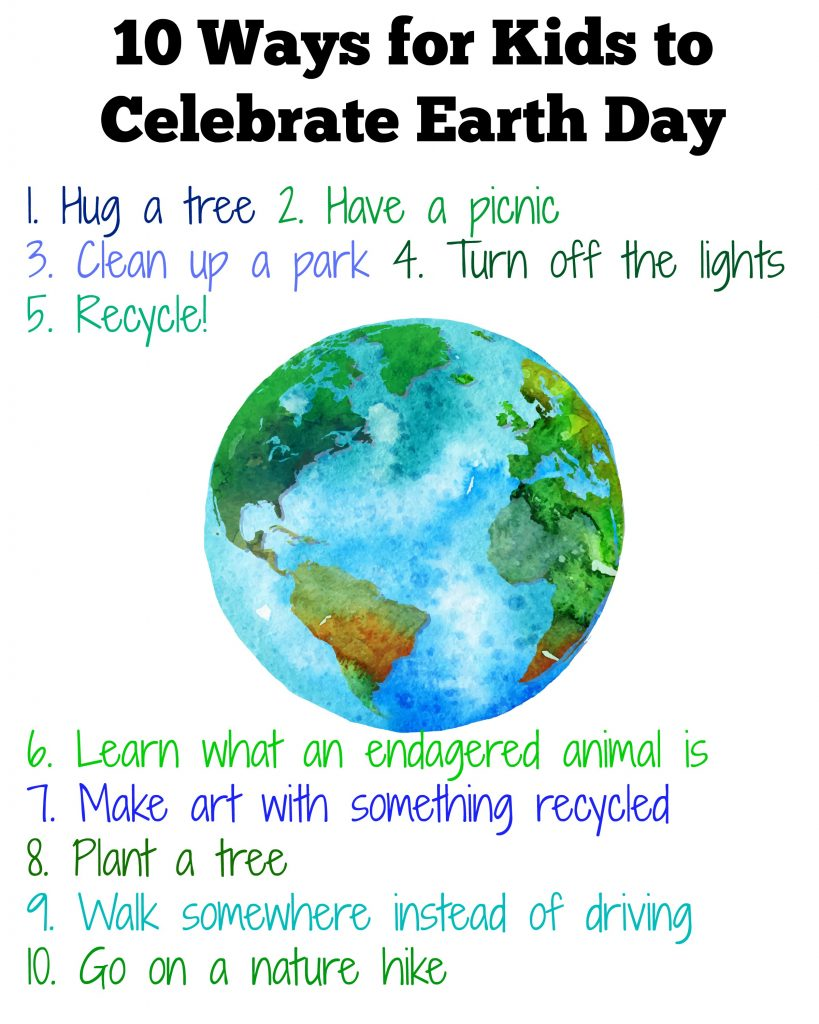 Ways to celebrate Earth Day with Kids