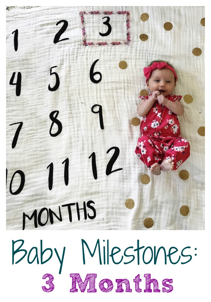 Baby Milestones : Three Months || The Chirping Moms