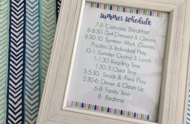 20+ Printables & Ideas to Get Your Family Organized for Summertime