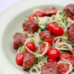 Easy 5 Ingredient Recipe: Sausage, Tomato & Zoodles