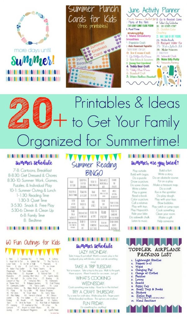 20+ Printables & Ideas to Get Your Family Organized for Summertime || The Chirping Moms