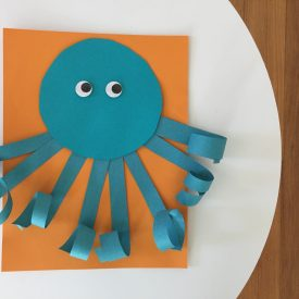 Easy Summer Craft for Kids: Curly Paper Octopus
