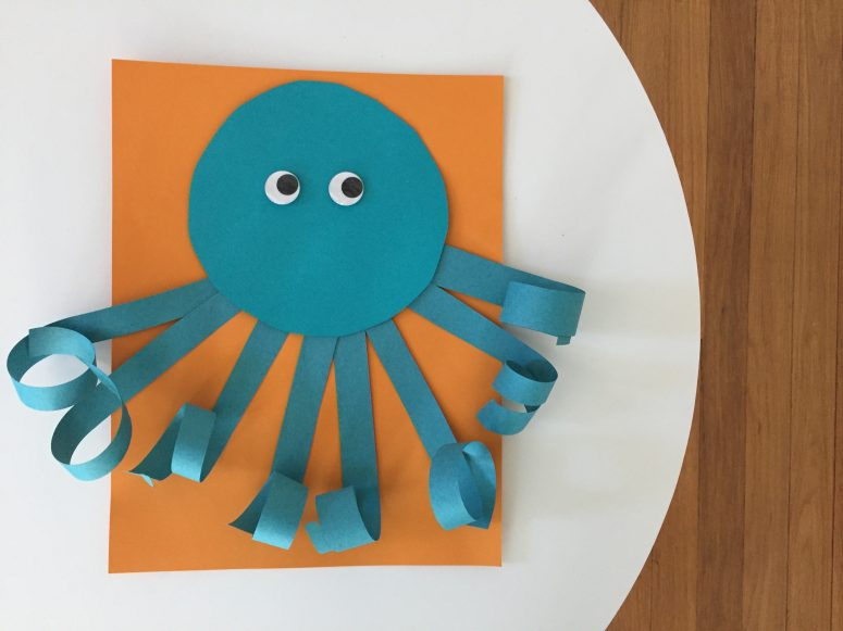 Easy Summer Craft For Kids Curly Paper Octopus The