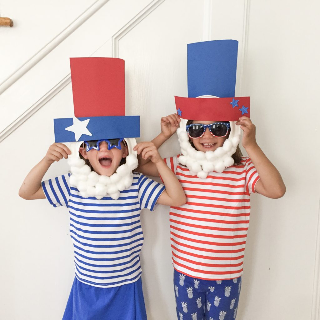 Uncle Sam Paper Plate Mask Easy 4th Of July Craft
