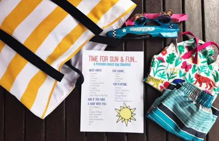 Printable Beach Bag Checklist