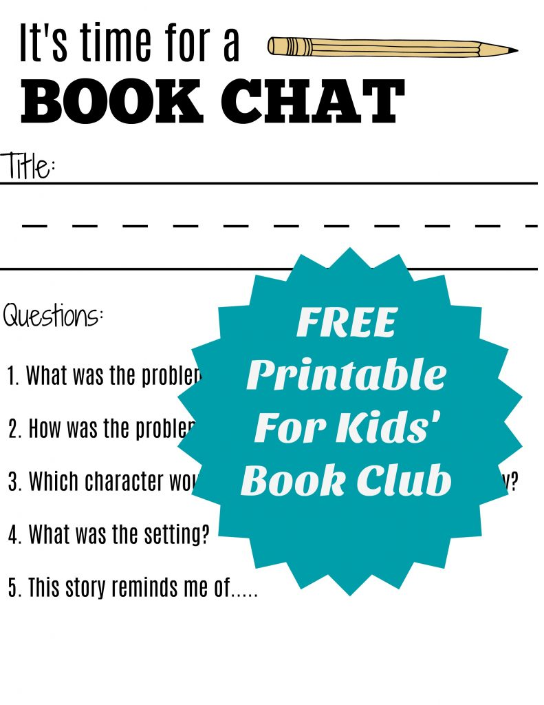 photograph relating to Printable Book Club Questions referred to as Starting off A Summer time Reserve Club for Small children and No cost Printable E-book