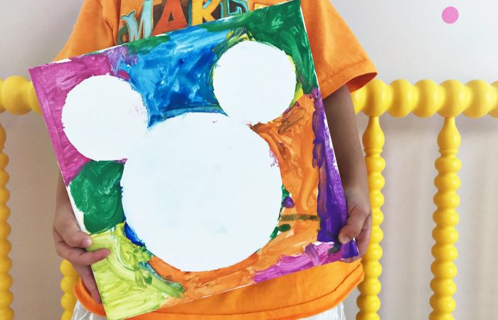 Mickey Mouse Tape Resist Craft