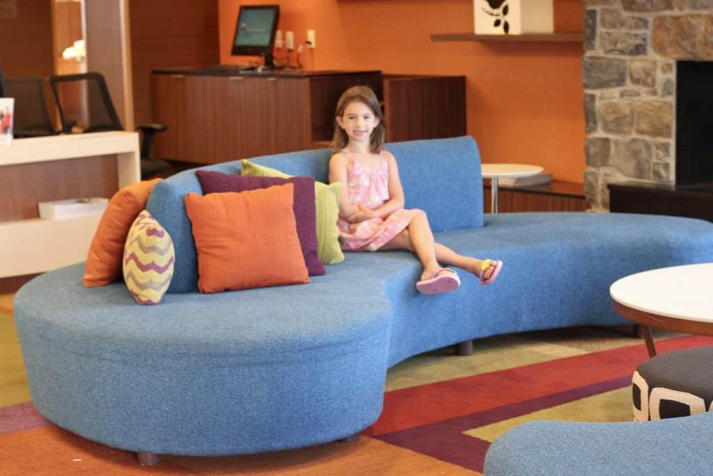 Lobby of Fairfield Inn located in Lancaster, PA