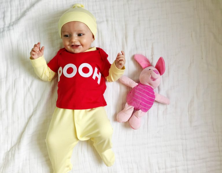 15 easy diy halloween costumes for babies and kids diy winnie the pooh halloween costume for babies solutioingenieria Image collections