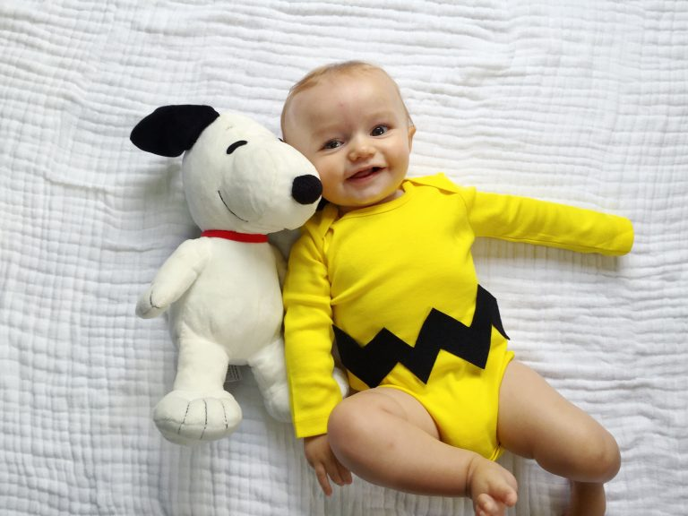 diy charlie brown onesie costume for baby